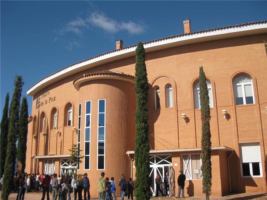 Papercraft building imprimible y armable del Teatro de la Paz de Albacete, España. Manualidades a Raudales.